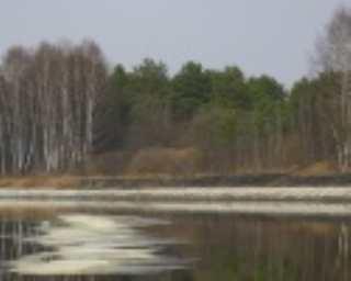 Талая вода пошла под лед